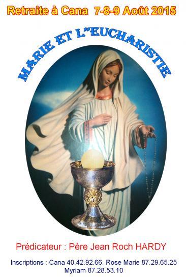 Affiche marie eucharistie