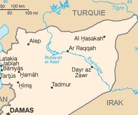 Carte de syrie hassake