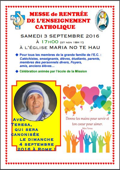Messe de rentree 2016