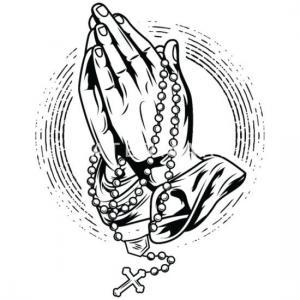 Prier rosaire prier prier mains rosaire dieu coque iphone 7 8
